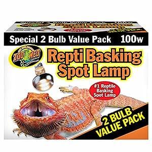 Amazon Com Zoo Med Reptile Basking Spot Lamp 100 Watts 2