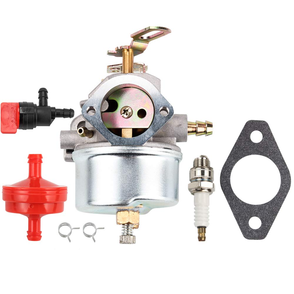 Amazon.com: 632334A Carburetor with Spark Plug Fuel Filter Parts Kit for  Tecumseh 632334 632111 7hp 8hp 9hp HM70 HM80 HMSK80 HMSK90 Replaces 38080  824 Snow ...