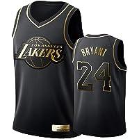 XYHS Camiseta de Baloncesto para Hombre-Kobe Bryant- Camiseta de Los Angeles Lakers # 24, Camiseta Negra y Dorada con…