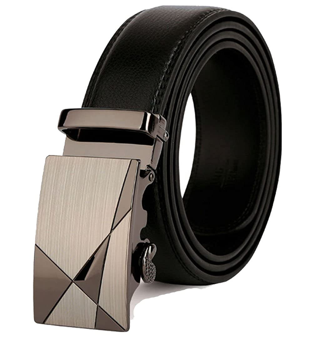Automatic Buckle for Mens Leather Belt Great for Jeans /& Casual Wear /& Cowboy Wear /& Work Clothes Black Rockynice--Trend Business Mens Belt