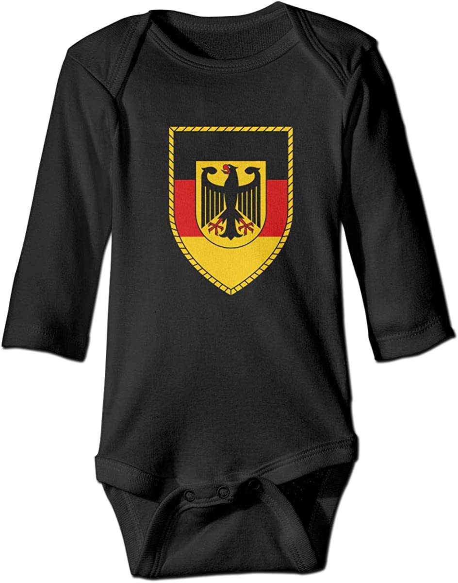 Cnfoldjfong Bundeswehr Logo with Text Long Sleeve Crawling Jumpsuit Rompers