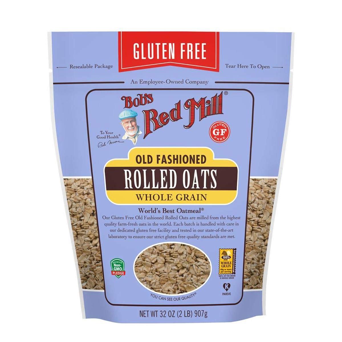 Copos de avena de Bob Red Mill sin gluten, grano entero, 32 ...