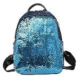 Hmlai Sequin Backpack, Women Girl Fashion School Bookbag Lightweight Travel Daypack (Bule)