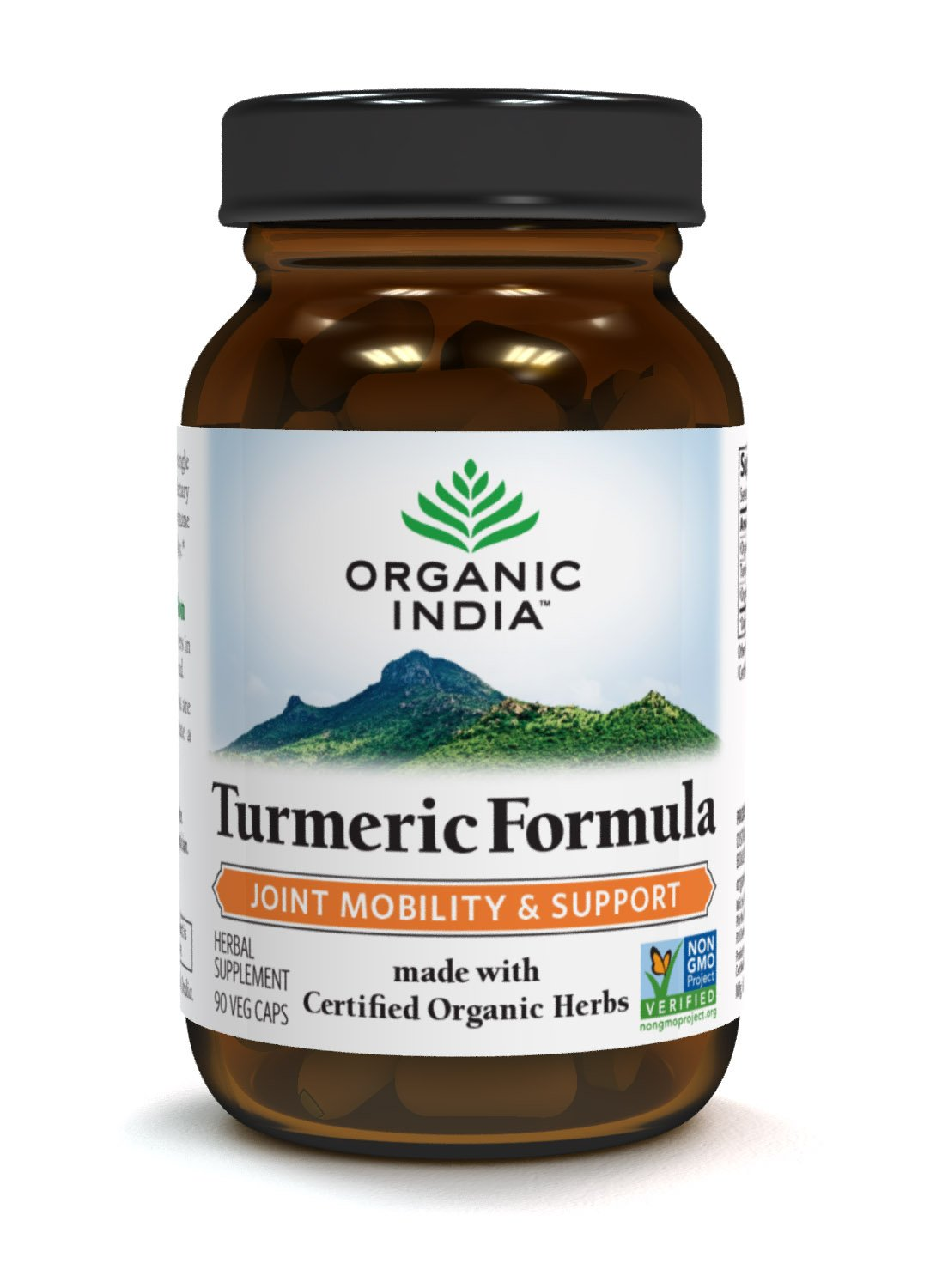 Details about ORGANIC INDIA Natural Turmeric Root Veg Capsules, USDA  Certified Organic, High