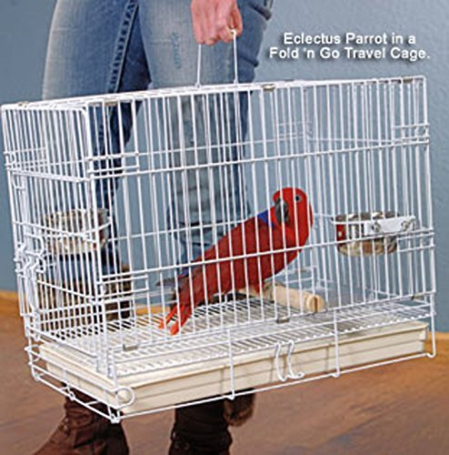 White Travel Bird Small Parrot Cage by Mcage