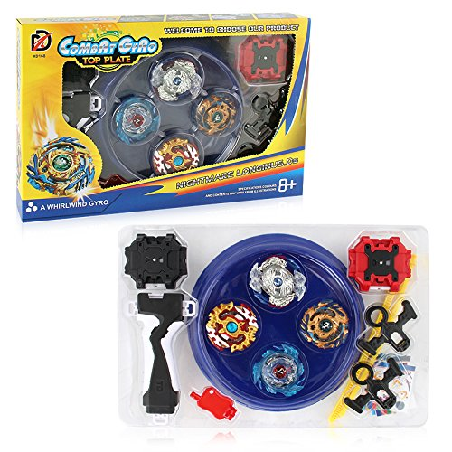 Mitfun Battling Top Set 4X Spinning Metal Fusion Set Starter for Children Launchers and Arena Included … (2) by Mitfun (Image #2)