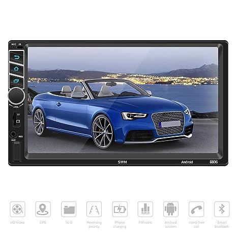 Android 7.1 Autoradio Bluetooth con GPS Navegación, Parkomm 7 Pulgadas 2 DIN Radio Coche con
