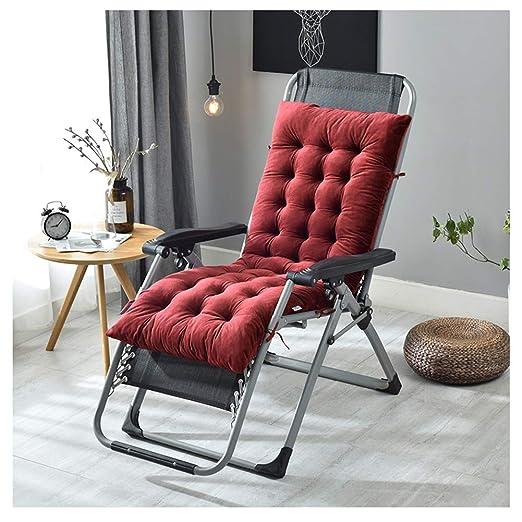GELing Tumbona sillón reclinable Lounge de Almohadilla cojín Patio ...