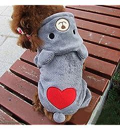 zolimx® Perros Accesorios Ropa, Mascota Perro Caliente Ropa Cachorro Mono Sudadera con Capucha Lindo Corazón Imprimir Perrito Encapuchado: Amazon.es: Ropa y ...