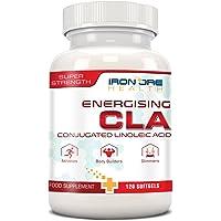 CLA | Gélule à fort potentiel pour la perte de poids | Augmente la masse musculaire | Non-Stimulant, Sans-OGM et Sans-Gluten | 120 Gélules | Fabriqué au Royaume-Uni par Iron Ore Health