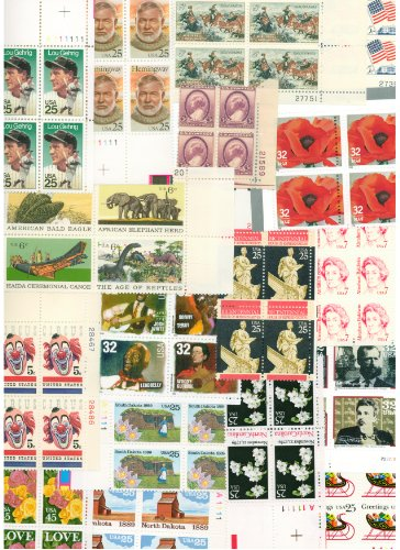 modlowarvai' MINT U.S. PLATE BLOCKS BELOW FACE VALUE!! Collectible Postage Stamps.