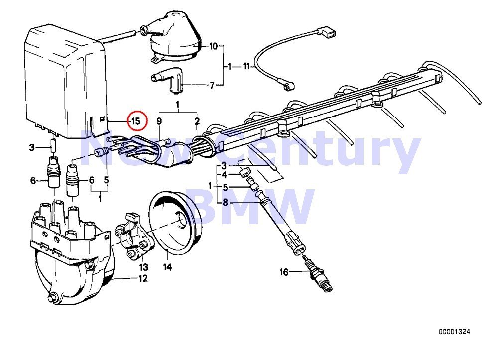 Amazon Com Bmw Genuine Ignition Wiring Ignition Wiringsparkplug