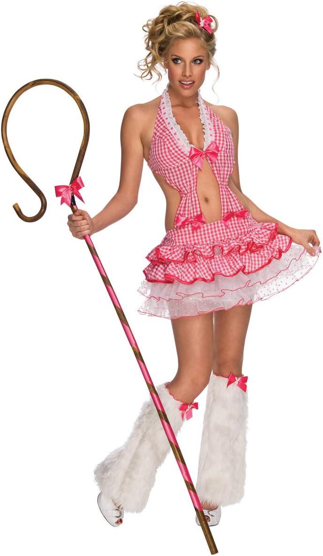 Desconocido Disfraz de pastora sexy de Playboy para mujer: Amazon ...
