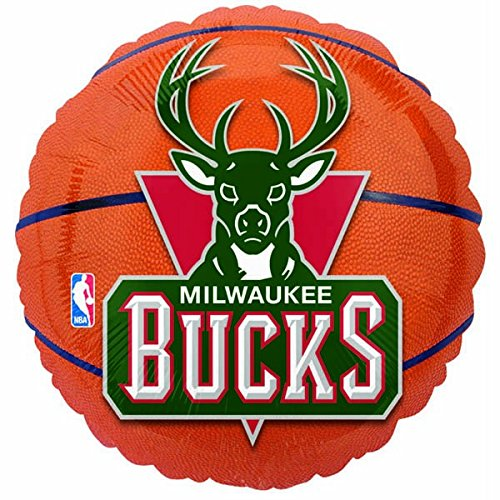 Anagram International Milwaukee Bucks Flat Party Balloons, 18