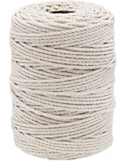 Tenn Well 3MM Natural Cotton Twine, 328 Feet Bakers Twine Food Safe Cooking String for Trussing Chicken, Tying up Meat, DIY Crafts and Macrame Projects
