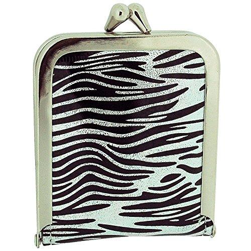 TOC Ladies - Girls Funky Black & Silver Zebra Print Case Emergency Sewing Kit Set SC856