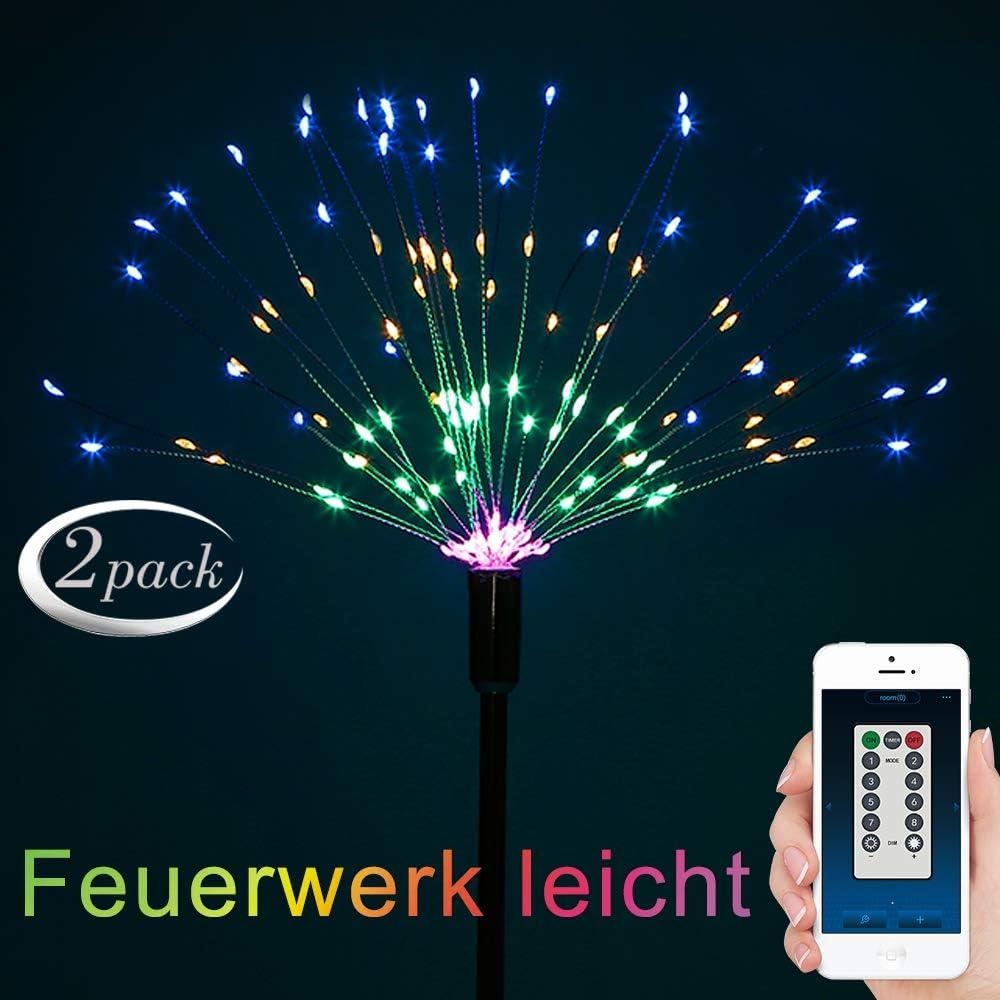 Qedertek Batterie Lichterketten mit Fernbedienung 150 LED Feuerwerk Lichter Zweifarbig mit 8 Modi Beleuchtungseffekt Ideal f/ür Weihnachten Dekoration Blau /& Wei/ß, 1 St/ück