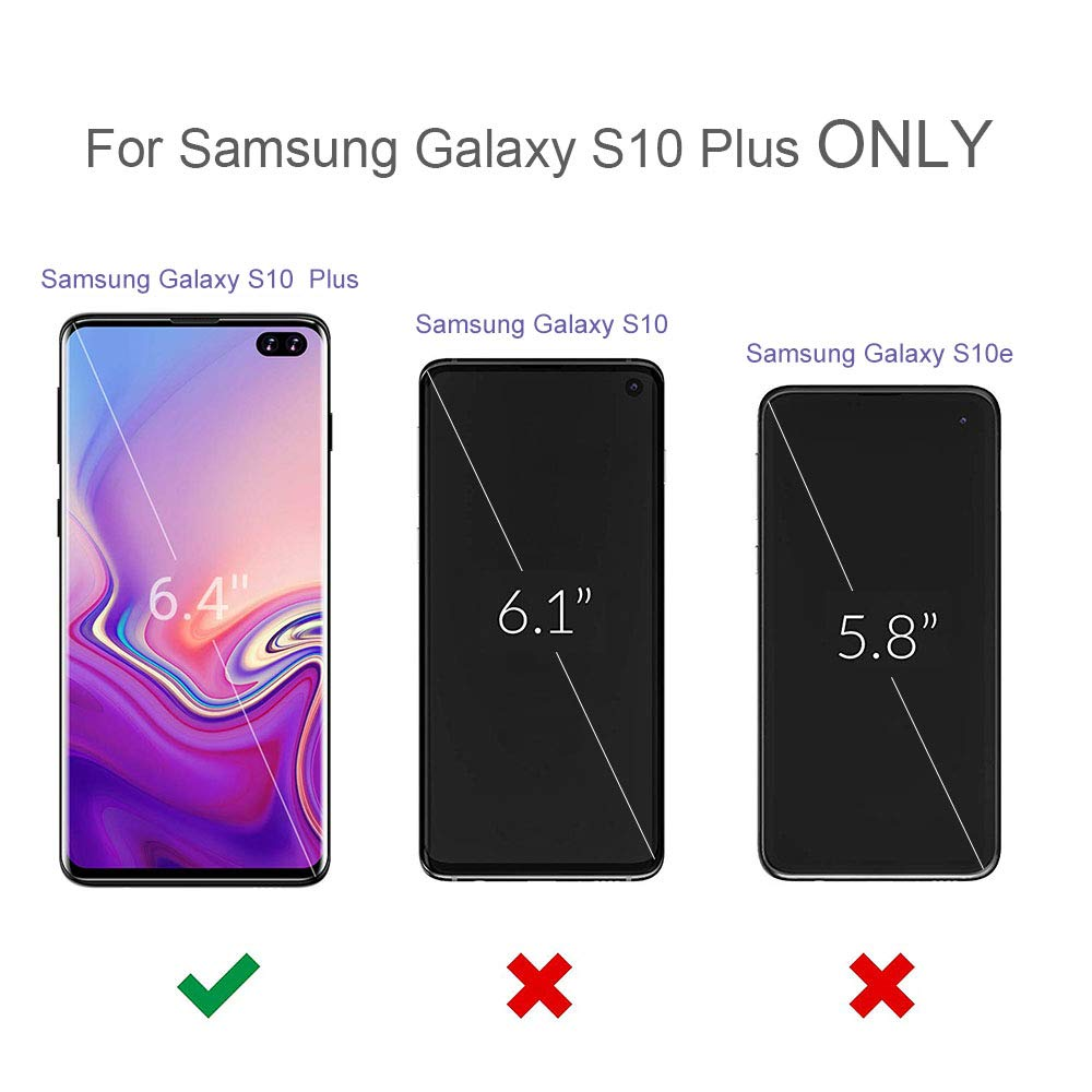 Galaxy S10+ Plus Clear Case 6.4 Inch (2019), Reinforced Corner Protective Bumper case, Soft Slim TPU Silicone Cover for Samsung Galaxy S10+ Phone
