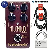 TC Electronic MojoMojo Overdrive - Tube Amp Overdrive Effect Foot Pedal + (2) 20ft Guitar Cables + (2) Patch Cables + Micro Fiber Cloth Bundle