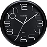 Woophen 13 Inch Easy to Read Large Numbers Wall Clock, Silent Non Ticking Quality Quartz Battery Operated, Good for Home/Offi