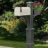 Westbrook Plus Mailbox Post Color: Granite