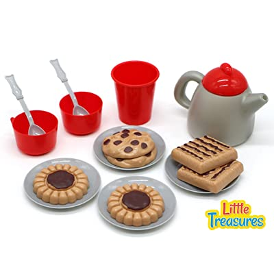 Little Treasures Dessert Play Snack Set for Kids: Toys & Games