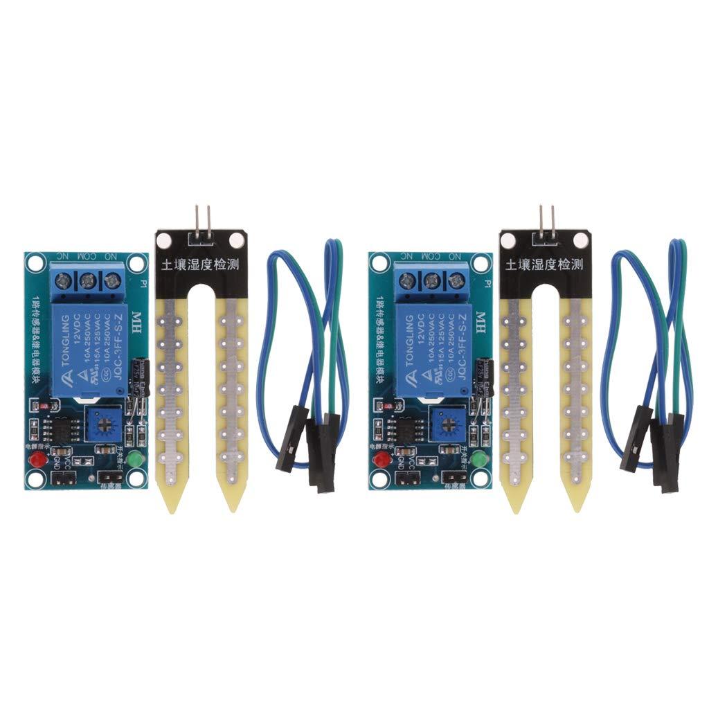 MagiDeal 8 St/ücke 12V DC Boden Hygrometer Erkennungsmodul Bodenfeuchte-Sensor Mehr als 100mA f/ür Arduino