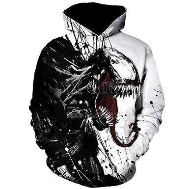68a64bf1 3D Hoodies Unisex 3D Printed Spiderman Venom Villain Skull Hoodie Funny  Hoodies Black