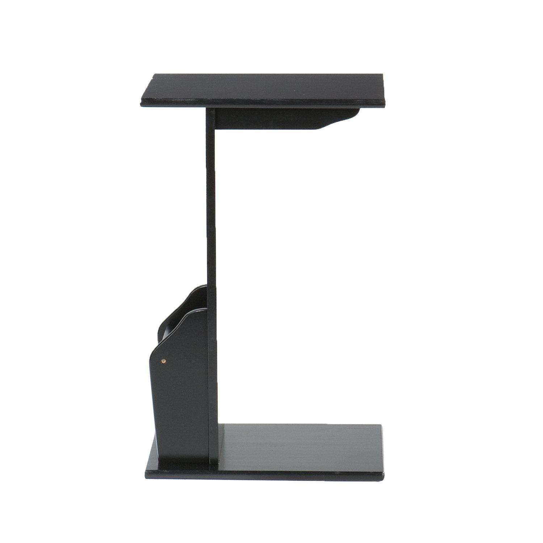Amazon.com: Magazine Snack Table For Sofa Side   Black: Kitchen U0026 Dining