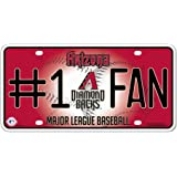 Rico MLB #1 Fan Metal Auto Tag