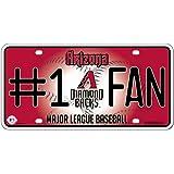 MLB #1 Fan Metal Auto Tag