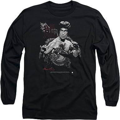 Bruce Lee camisa de manga larga camisetam dragón para hombre: Amazon.es: Ropa y accesorios