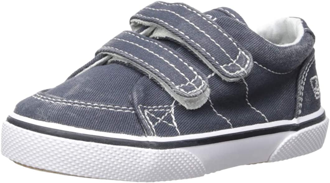 Amazon.com | Sperry Halyard Hook & Loop Boat Shoe (Toddler/Little Kid) |  Loafers