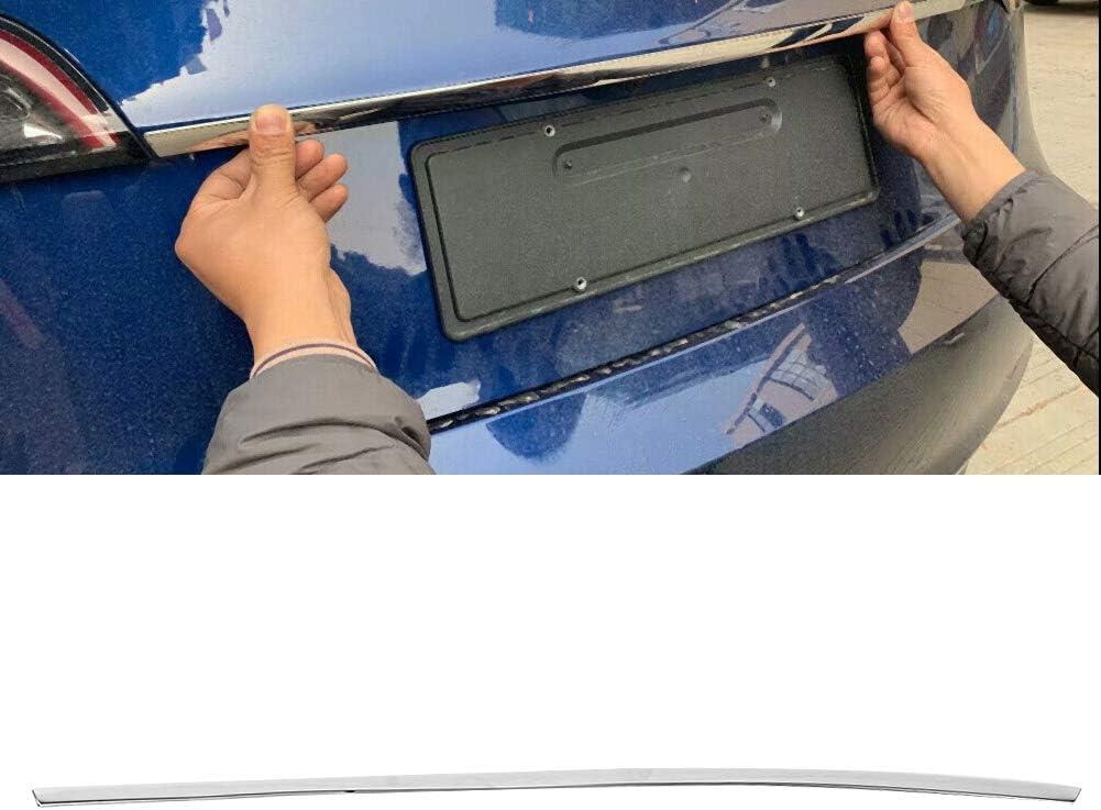 Stainless Steel Rear Trunk Lid Moulding Strip Cover Trim Fits for Tesla Model 3 2018-2019 Suuonee Rear Trunk Lid Strip