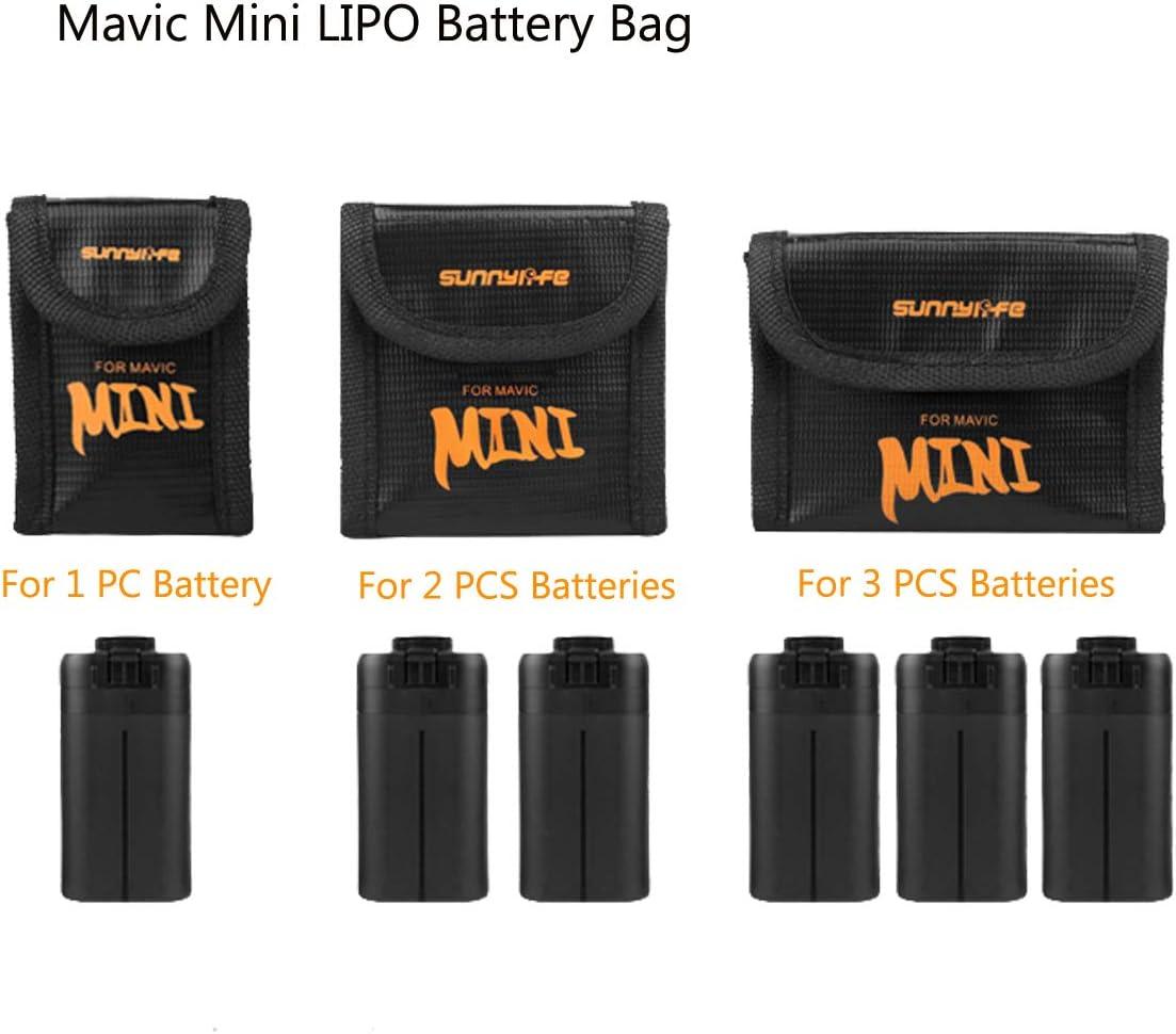 Medium Battery Protection Storage Bag Explosion Proof Pouch Tineer Nylon Lipo Battery Safe Bag for DJI Mavic Mini Accessory