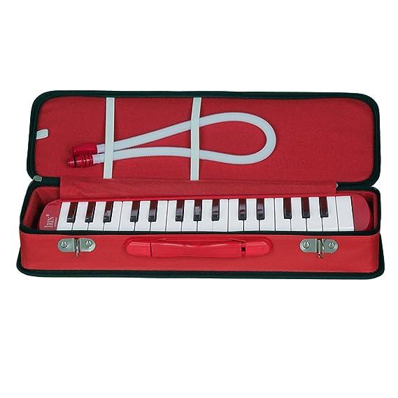 Alomejor - Melodica, 32 Llaves, Estilo Piano, Instrumento Musical portátil, Regalo para los niños Amantes de la música, Principiantes, Rojo: Amazon.es: ...
