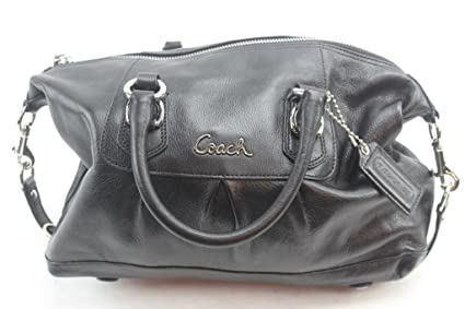 6b28f9c54f switzerland authentic coach ashley purse black leather satchel handbag  f15445 02901 f29ee
