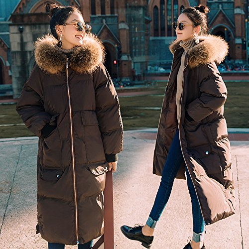 Xuanku Cotton In The Long Section Of The Winter Loose Loose Collar Cotton Jacket Jacket Jacket Knee Clothes Brown