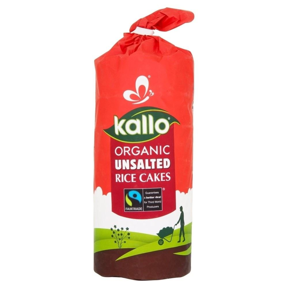 Kallo Fairtrade Organic Thin Slice Rice Cakes - Unsalted (130g)