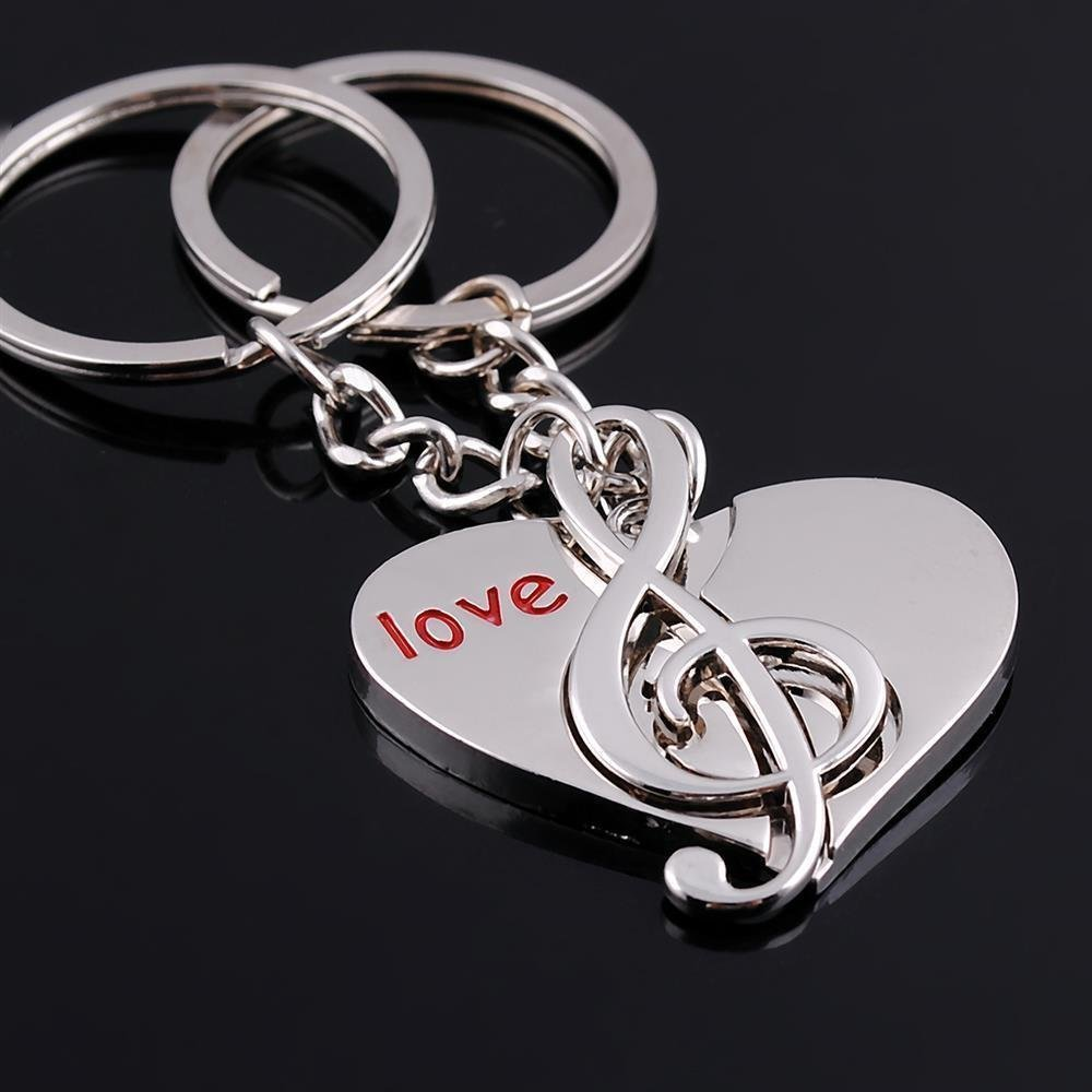 Amazon Dreamseden Love Heart Music Notes Symble Detachable Couple Keychain With Gift Box Best Key Ring Chain For Valentine Wedding