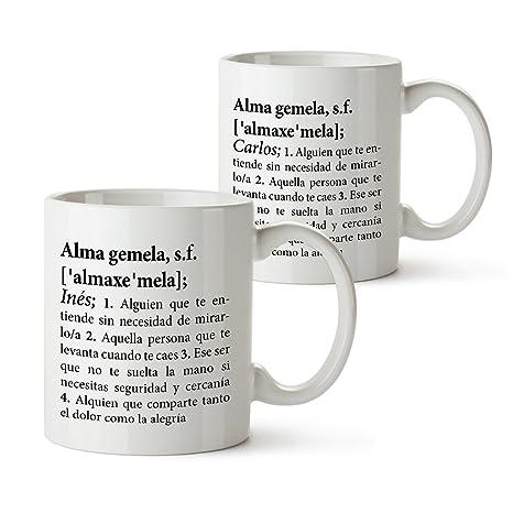 Set de Tazas con Impresión – Definición de Alma Gemela – Personalizadas con Nombre – Tazas