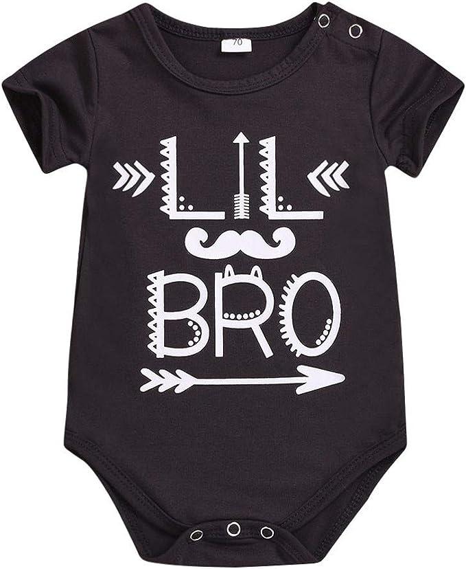 Tops para Hermanos, Recien bebé niño niña Algodon Bodies Manga Corto bodis Monos Camiseta Pijamas de una Pieza Ropa Bautizo: Amazon.es: Ropa y accesorios
