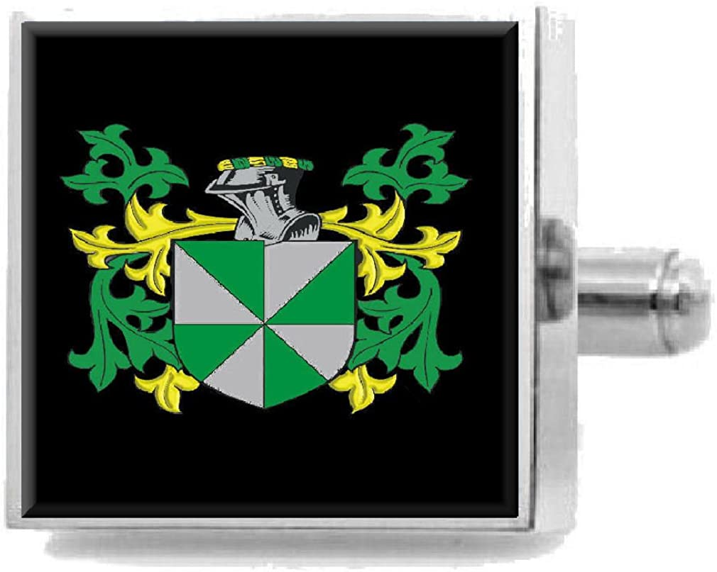 Select Gifts Danson England Heraldry Crest Sterling Silver Cufflinks Engraved Message Box