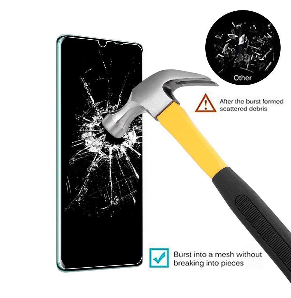 UCMDA Verre Trempé pour Huawei Mate 30 Pro [Lot de 2][Couverture Complète], Film Protection en Verre Trempé Protecteur écran, 3D Touch Anti Résistant Screen Protector pour Huawei Mate 30 Pro (Noir)