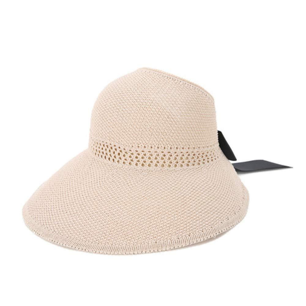 F JJYHN Women's Fashion hat,Folding Straw hat Summer Empty top hat