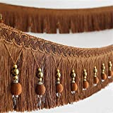 2yard Briaded Beads Hanging Ball Tassel Fringe