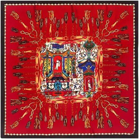 LYDHWK Bufanda De Seda Mujer España Borla Cuerda Pañuelo Musulmán Pañuelo De Seda Pañuelo Femenino Pañuelos Cuadrados Dama Bandana Vino Rojo: Amazon.es: Deportes y aire libre
