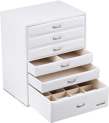 Yorbay Caja joyero Organizador, con 6 Cajones para, Caja de Almacenamiento, 24x30x18 cm con Manejar (Blanco) Reutilizable: Amazon.es: Juguetes y juegos