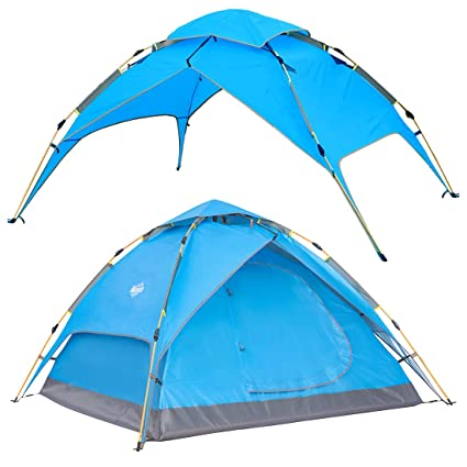 ff2b2a618fc Wantdo 2-3 Person Automatic Instant Tent Pop Up Family Camping Tent  Backpacking Tent Multi
