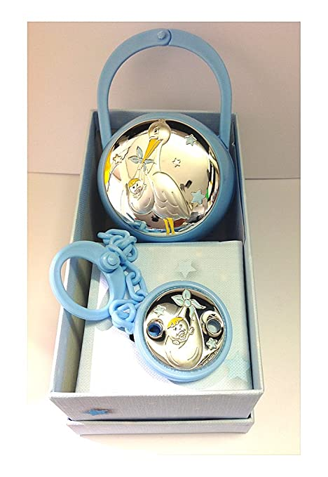 2R Argenti - Conjunto de portachupetes y pinza de plata ...